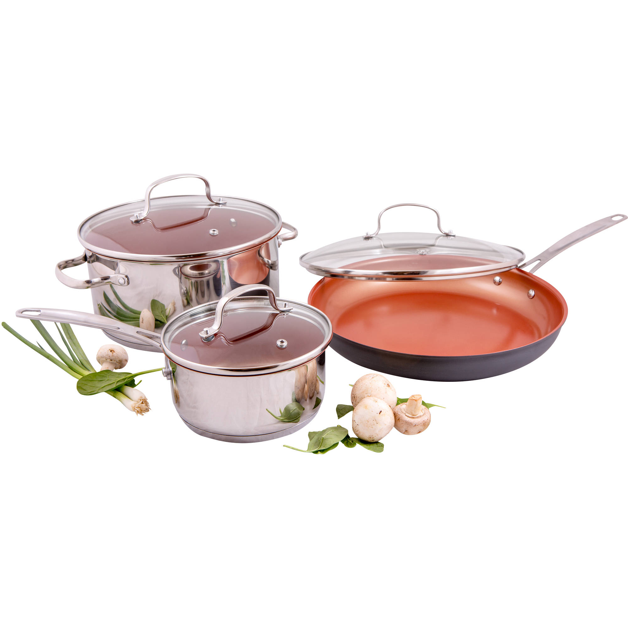 Nuwave 31801 8 Piece Cookware Set With Ceramic Coating