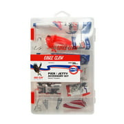 Eagle Claw Pier and Jetty Ready To Fish Fishing Tackle Kit, Small, Red / Clear