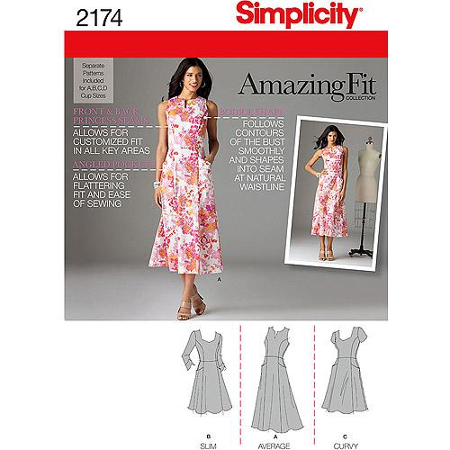 SIMPLICITY MISSES DRESSES-6-8-10-12-14, Pk 1, Simplicity Patterns