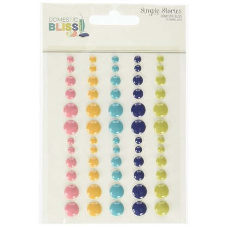 Stories 7817 Domestic Bliss Enamel Dots, Beautiful designs and home filled sentiments perfect for scrapbooking card making planning and home decor projects By Simple for $<!---->