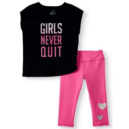 Dorinda Cheetah Girls (Cheetah Girls Never Quit Top and Capri Legging, 2-Piece Active Set (Little Girls & Big)