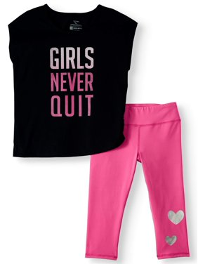 Cheetah Girls Never Quit Top and Capri Legging, 2-Piece Active Set (Little Girls & Big Girls)