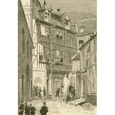 Blaise Pascals Barrel Experiment Rouen France C 1640 From El Museo Popular Published Madrid 1889 Canvas Art - Ken Welsh  Design Pics (22 x