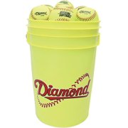 Diamond 6 Gallon Ball Bucket with 18 12YOS Softballs by
