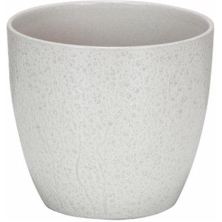 55031 6.25 in. Cream Spirit Round Ceramic Indoor Planter, Pack Of 4