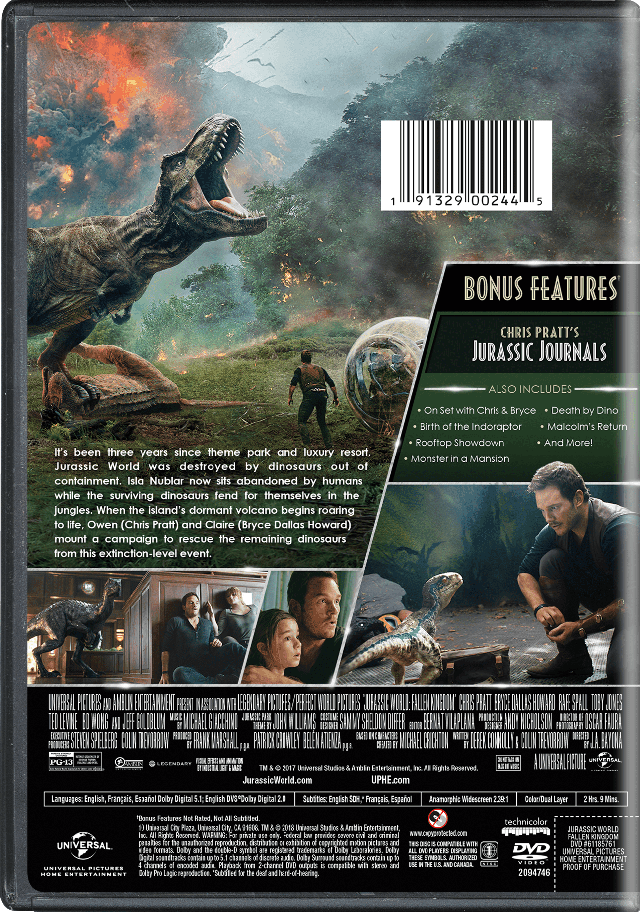 Jurassic World: Fallen Kingdom (DVD) - Walmart.com