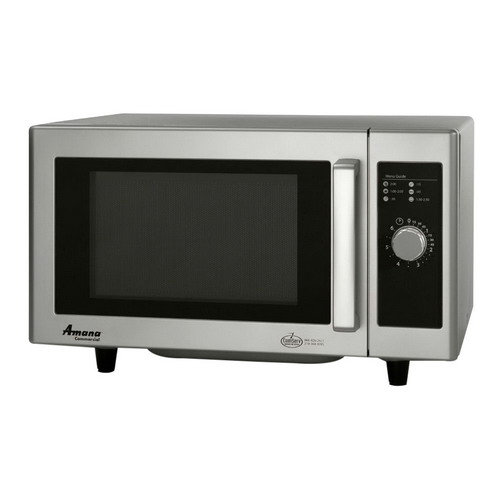 Amana Commercial Low Volume Microwave Oven Stainless Steel, 0.8 cu-ft | 1 Each
