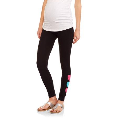Labor of Love Maternity Seamless Full-Panel Leggings with Graphic