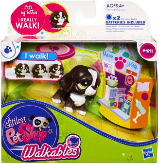 Hasbro Littlest Pet Shop Walkables Dog Figure [Dark Brown]