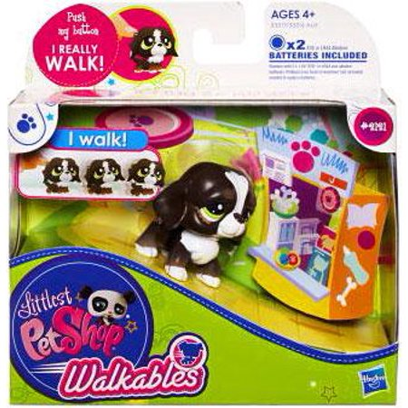 Littlest Pet Shop Walkables Dog Figure [Dark Brown] - Lps Dog