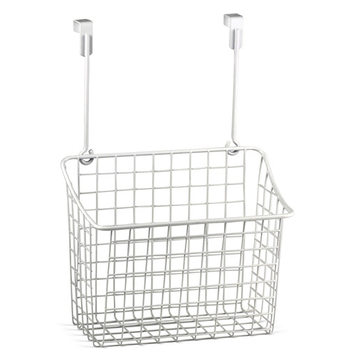 Spectrum Diversified Designs Large Over-the-Cabinet-Door Grid Basket, White