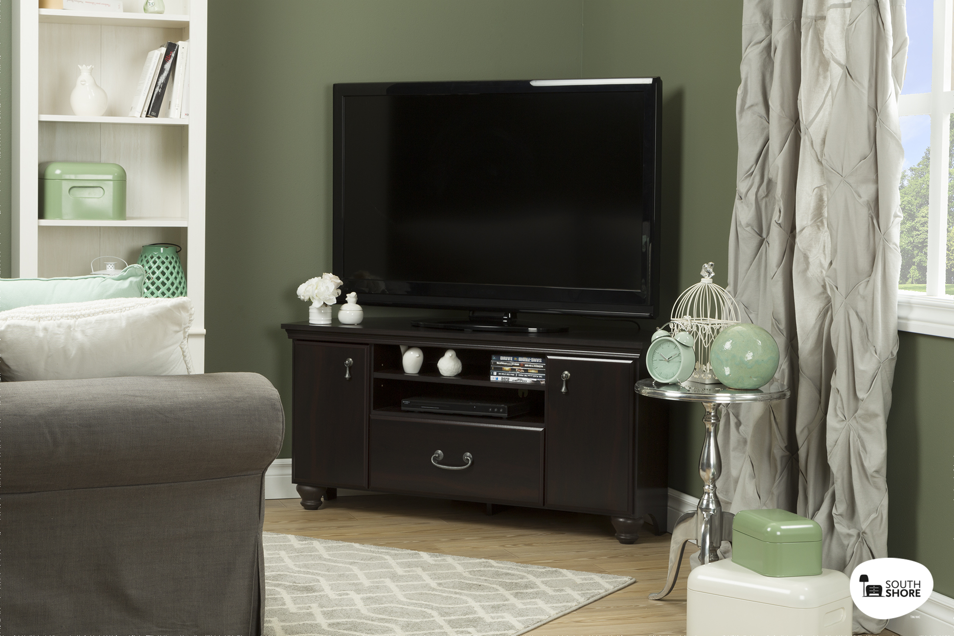 South Shore Noble Corner TV Stand for TVs up to 60'' in Multiple Finishes by South Shore