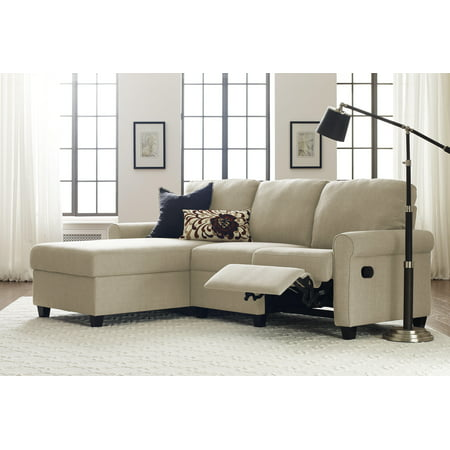 Copenhagen Reclining Sectional with Left Storage Chaise - Serta