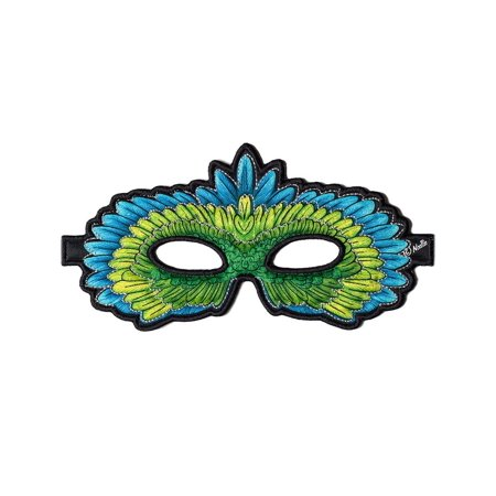 Green Parrot Mask, By Douglas Cuddle Toys Ship from US - Pierrot Masks