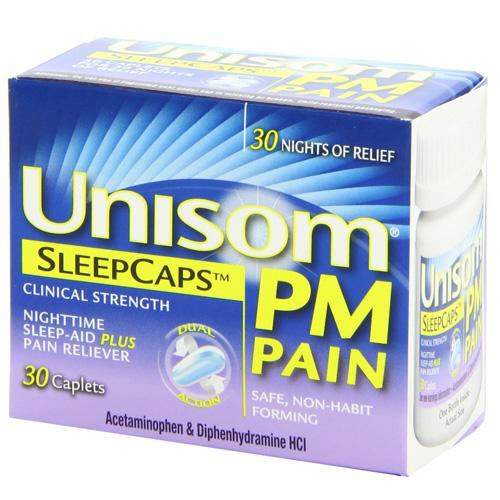 Unisom Pm Pain Clinical Strength Sleep Caps - 30 Ea