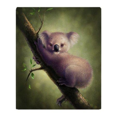 "CafePress - Cute Koala Bear Blanket - Soft Fleece Throw Blanket, 50""x60"" Stadium Blanket"