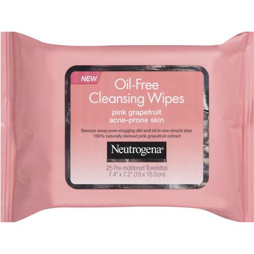 Neutrogena Oil-Free Pink Grapefruit Cleansing Wipes, 25ct