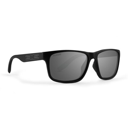 Epoch Eyewear Delta Golf Sport Sunglasses Black Frame Smoke Polarized (Del Ray Sunglasses)