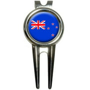 New Zealand Flag Golf Divot Repair Tool and Ball Marker