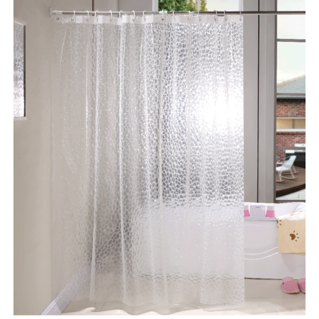 bgtollp mildew resistant anti bacterial peva shower curtain liner 47x70inches clear non toxic. Black Bedroom Furniture Sets. Home Design Ideas