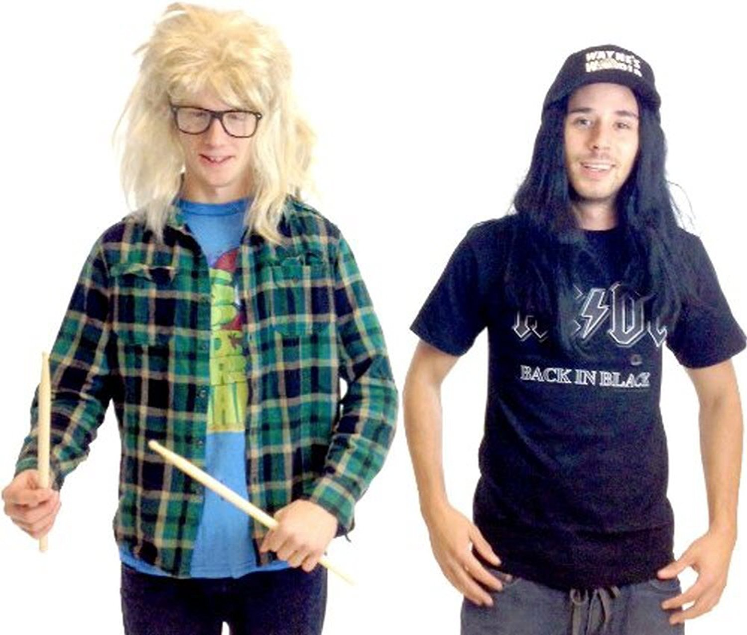 Mens Adult Waynes World Party Excellent Wayne Hat /& Wig Costume Accessory