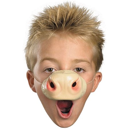 Child Rubber Costume Accessory Cow Zoo Animal Nose Elastic Band Mask (Cow Noses)