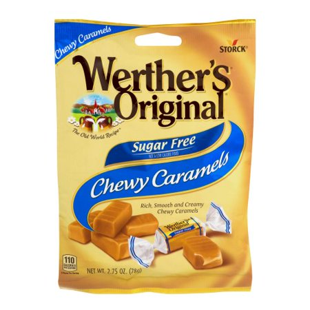 Werthers Sugar Free Chewy Caramels (Pack of 4)