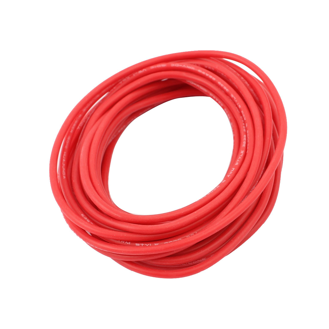 5M 22AWG 10KV Electric Copper Core Flexible Silicone Wire Cable Red ...