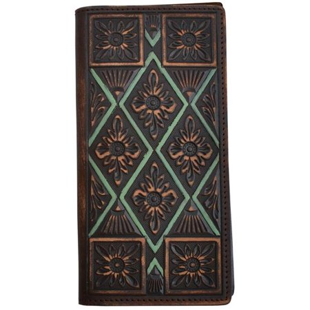 Boy Rodeo Wallet (3D Belt DW884 Vintage Brown Floral Rodeo Wallet )