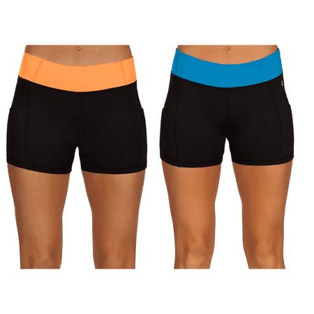db10f6e1d3 High Waisted Boyshorts for Women, Short Bicycle Shorts, Yoga Shorts with  Pockets
