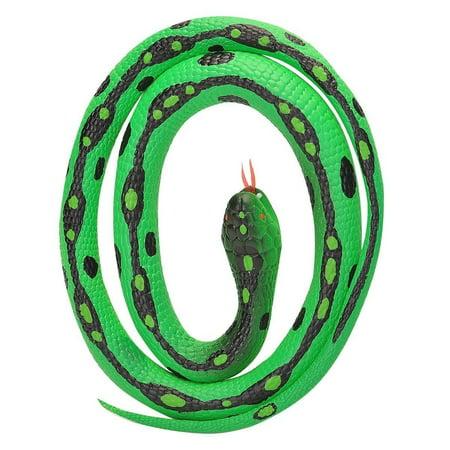 Green Garter Rubber Snake 46 inch - Play Animal by Wild Republic (20771)
