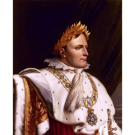 Bonaparte Poster Bed (Digitally restored vector artwork of Napoleon Bonaparte Poster Print)