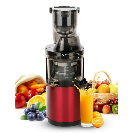 Ainfox Masticating juicer Slow Juice Extractor for Higher Nutrient and Vitamins Slow Masticating Juicer with Quiet Motor and Reverse Function,Easy to Clean Juicer for All Fruits and