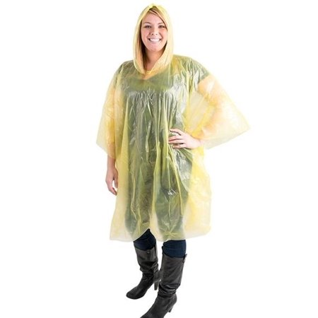- Cp 4 Yellow Rain Poncho Emergency Lightweight Hood Camping Outdoor Rain Coat Jacket One Size Fits Most 52