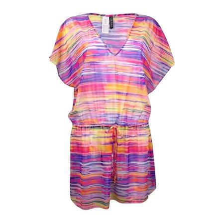 Lauren Ralph Lauren Women's V-Neck Space-Dye Mesh Swim - Ralph Lauren Cover Up