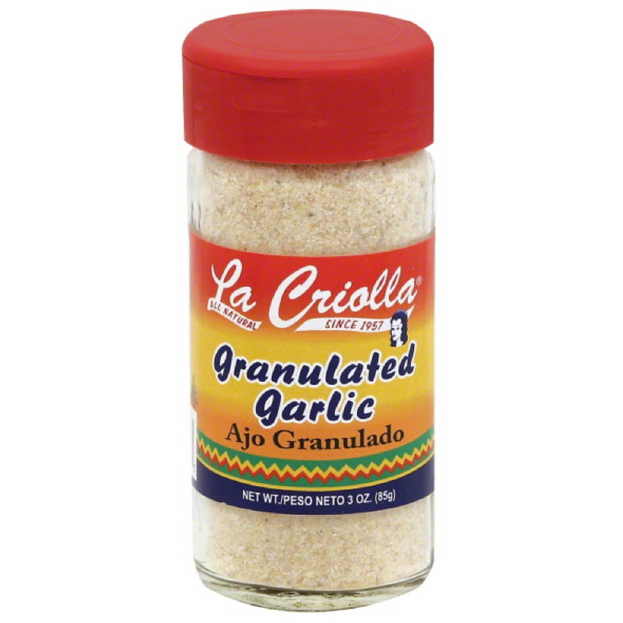 La Criolla Granulated Garlic, 3 oz, (Pack of 12)