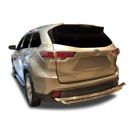 Broadfeet Rear Bumper Guard for 2014-2018 Toyota Highlander in Stainless Steel ()