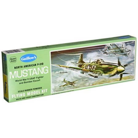 Guillows North American P51D Mustang Model Kit - Parkzone P-51d Mustang