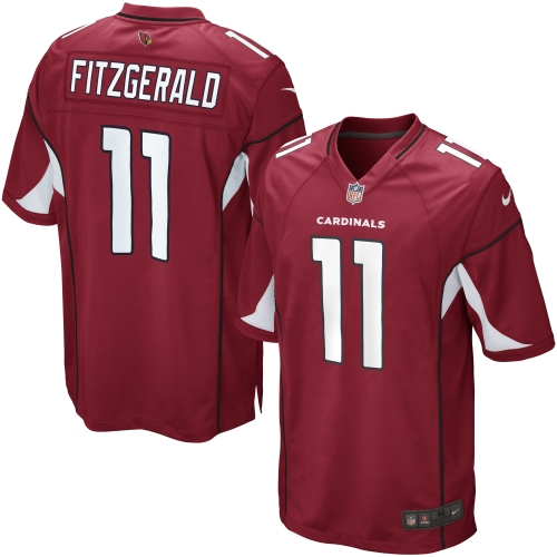 Larry Fitzgerald Arizona Cardinals Nike Youth Team Color Game Jersey - Cardinal
