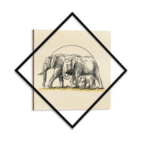 Ada Home Decor Elephant Family Modern Wood Wall Art