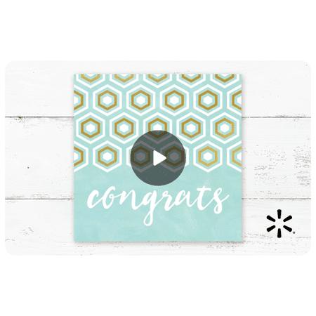 Congrats Postcard Walmart eGift Card
