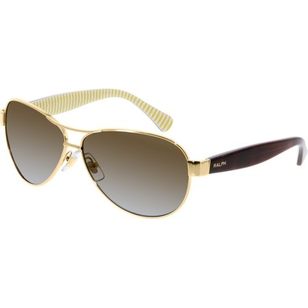 Men's Polarized RA4096-106/T5-59 Gold Aviator Sunglasses