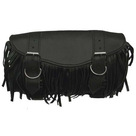 Buckle Strap Accent - 2 Strap Hard Shell Tool Bag and Fringe Accents with Quick Realease Buckle Straps by Vance Leather's