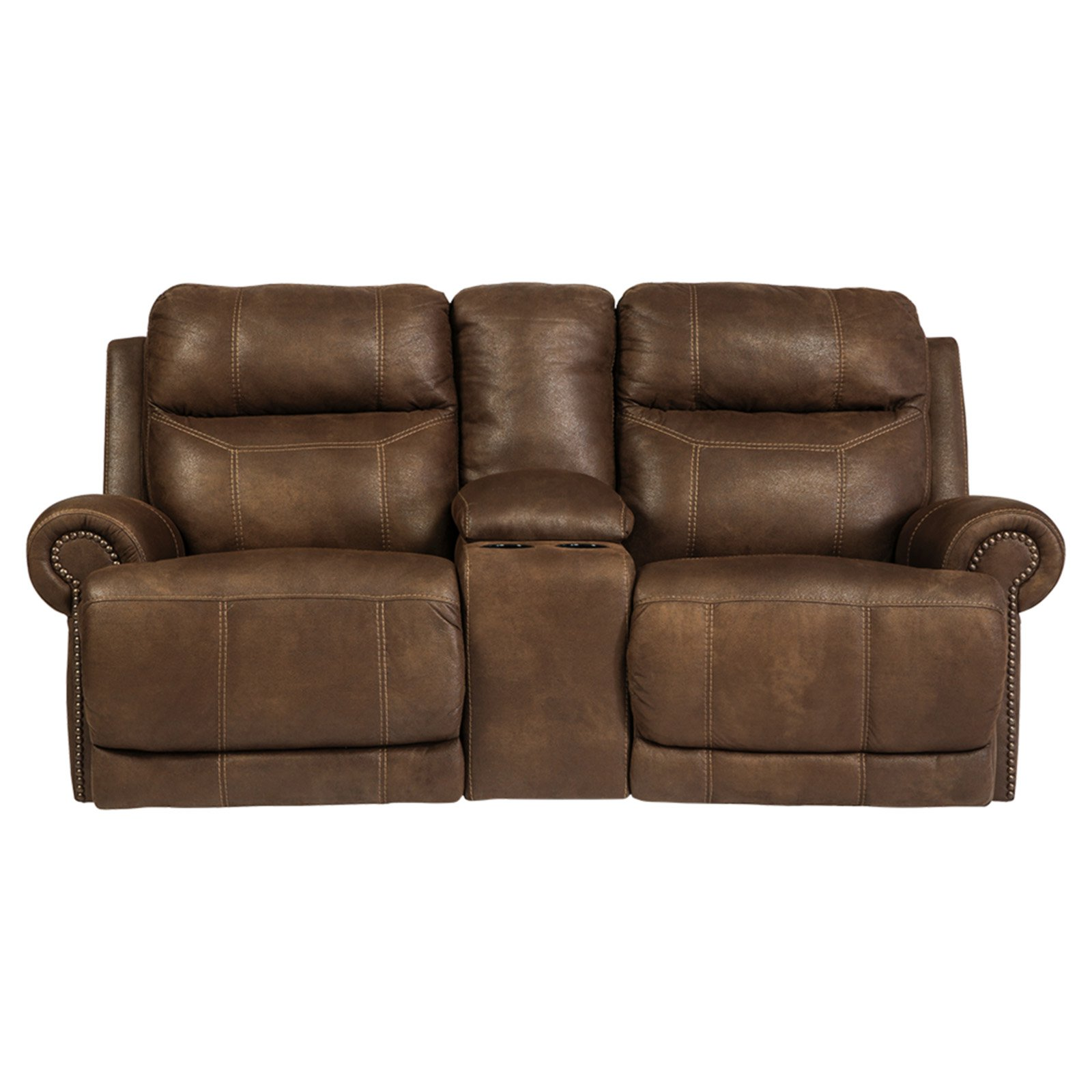 Signature Design by Ashley Austere Double Reclining Loveseat with Console