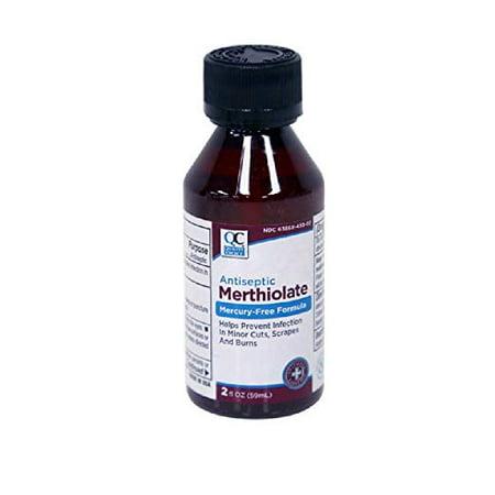 2 Pack Quality Choice Antiseptic Merthiolate Mercury-free formula 2oz -
