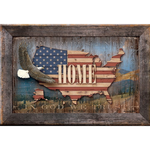 Wild Wings USA Home by Persis Clayton Weirs Framed Textual Art by