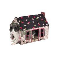 Pet Champion Corrugated Cat Scratching Cottage Playhouse W Catnip