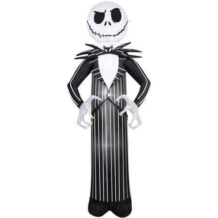 Nightmare Before Christmas Jack Airblown Halloween Decoration. - Halloween Outside Decorations Uk