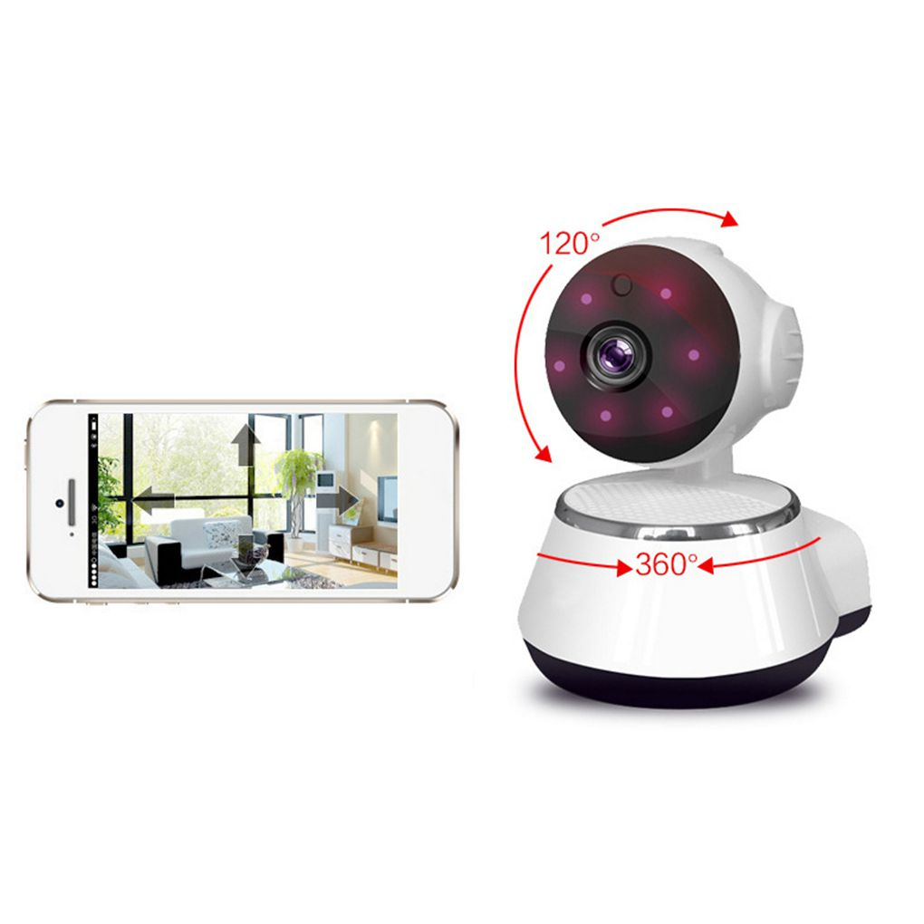 Wireless WiFi Baby Monitor HD 720P Home Security IP Camera With Night Vision Function,Built-in Microphone And Speaker