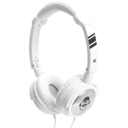 IDANCE Jockey Series Articulated Lightweight Headphones W/inline Mic Works W/iphone White